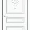 Межкомнатная дверь ПВХ Лира 2 венге 2