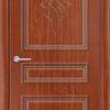 Межкомнатная дверь ПВХ Лира 7 белая патина 1