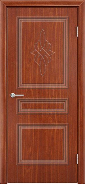 Межкомнатная дверь ПВХ Лира 3 итальянский орех 3
