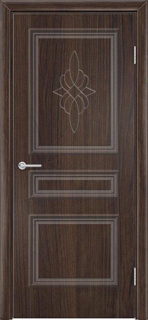 Межкомнатная дверь ПВХ Лира 3 темный орех 3