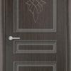 Межкомнатная дверь ПВХ Лира 4 светлый орех 1