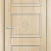 Межкомнатная дверь ПВХ Лира 7 белая патина 2