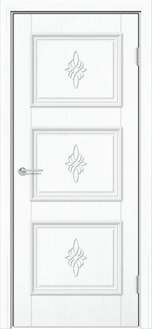 Межкомнатная дверь ПВХ Лира 4 белый 3