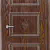 Межкомнатная дверь ПВХ Лира 5 дуб шоколадный 2