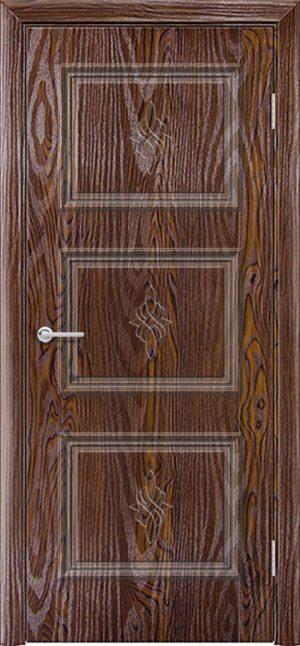 Межкомнатная дверь ПВХ Лира 4 дуб шоколадный 3