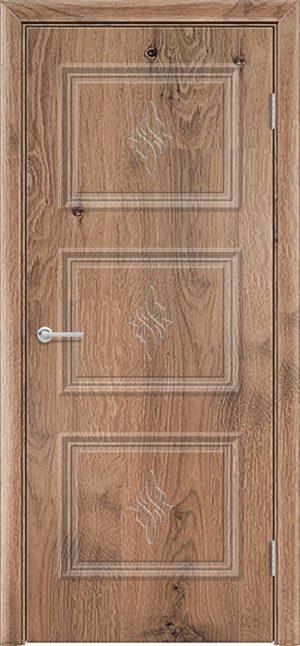 Межкомнатная дверь ПВХ Лира 4 светлый орех 3