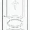 Межкомнатная дверь ПВХ Лира 5 дуб шоколадный 1