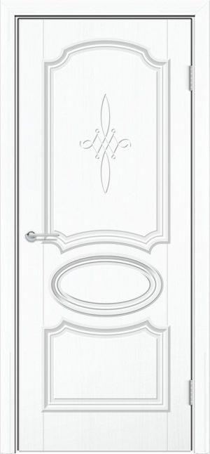 Межкомнатная дверь ПВХ Лира 5 белый 3