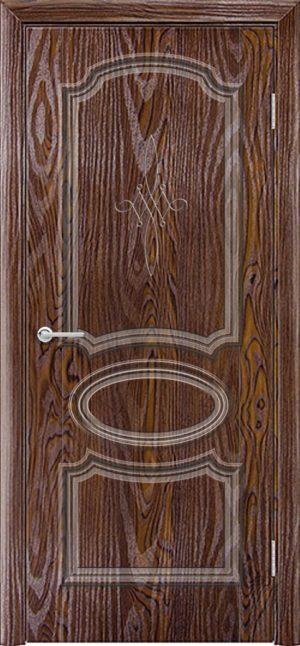 Межкомнатная дверь ПВХ Лира 5 дуб шоколадный 3