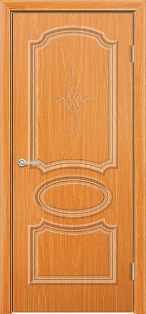 Межкомнатная дверь ПВХ Лира 5 миланский орех 3