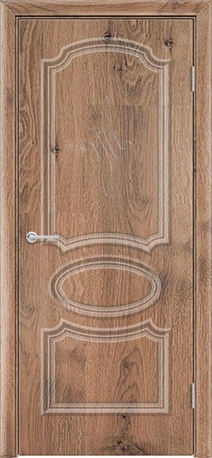 Межкомнатная дверь ПВХ Лира 5 светлый орех 3