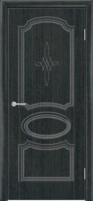 Межкомнатная дверь ПВХ Лира 5 венге патина 1
