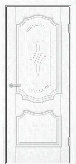 Межкомнатная дверь ПВХ Лира 6 белая патина 1