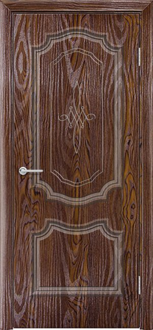 Межкомнатная дверь ПВХ Лира 6 дуб шоколадный 3