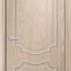 Межкомнатная дверь ПВХ Лира 1 дуб шоколадный 2