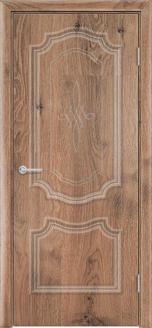 Межкомнатная дверь ПВХ Лира 6 светлый орех 3