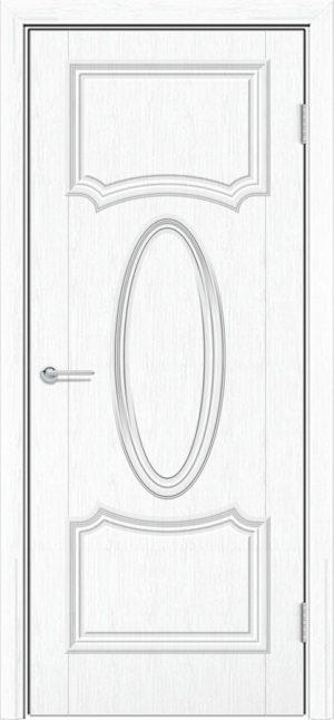 Межкомнатная дверь ПВХ Лира 7 белая патина 3
