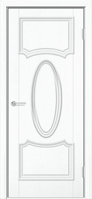 Межкомнатная дверь ПВХ Лира 7 белый 3