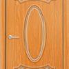 Межкомнатная дверь ПВХ Лира 4 дуб шоколадный 2