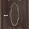 Межкомнатная дверь ПВХ Лира 7 дуб шоколадный 1