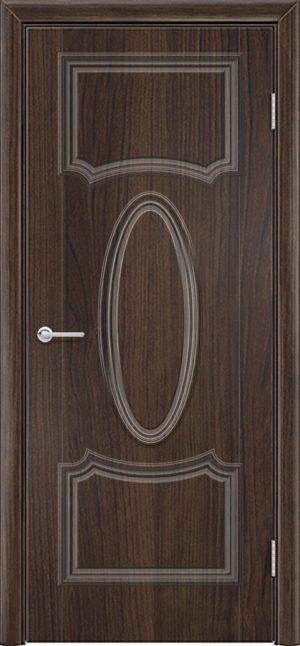 Межкомнатная дверь ПВХ Лира 7 темный орех 1