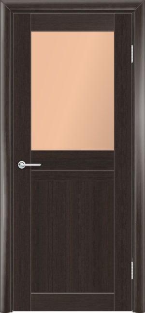 Межкомнатная дверь финиш пленка S 10 каштан 1