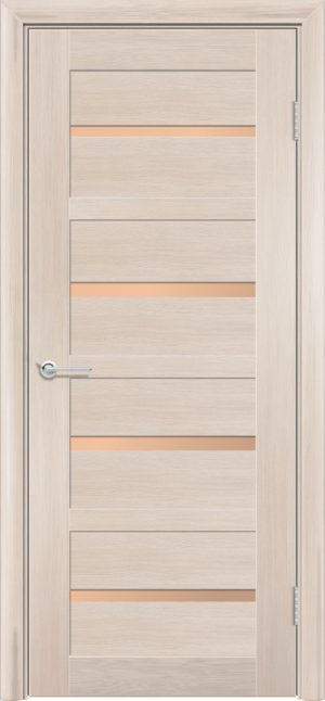Межкомнатная дверь финиш пленка S 17 капучино 1