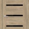 Межкомнатная дверь ПВХ S 35 орех темный рифленый 1
