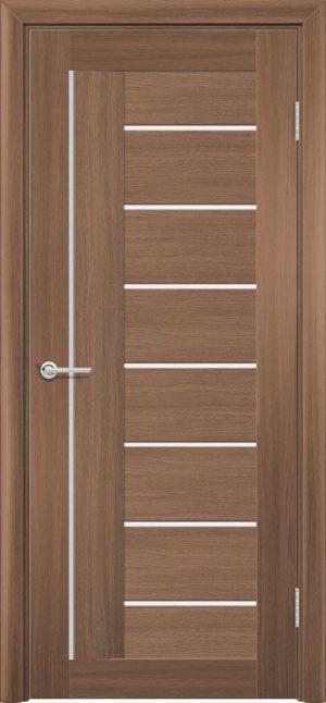 Межкомнатная дверь ПВХ S 11 орех королевский 1