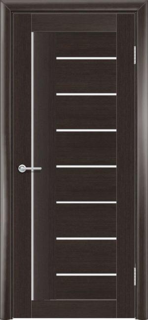 Межкомнатная дверь ПВХ S 11 орех темный рифленый 1