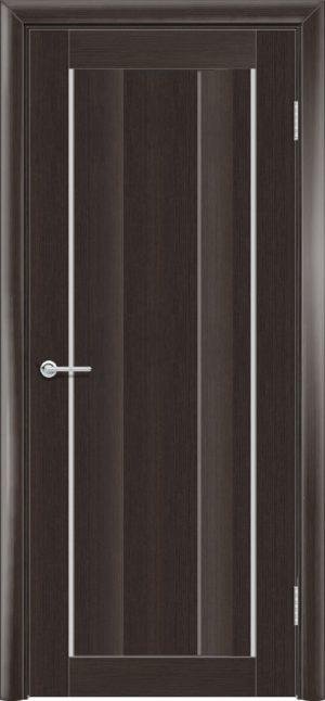 Межкомнатная дверь ПВХ S 12 орех темный рифленый 3