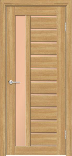 Межкомнатная дверь ПВХ S 13 лиственница золотистая 1
