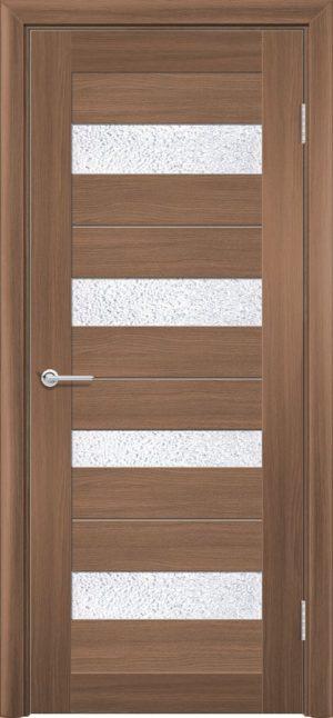 Межкомнатная дверь ПВХ S 14 орех королевский 1