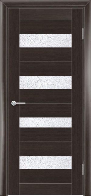 Межкомнатная дверь ПВХ S 14 орех темный рифленый 3