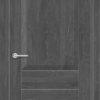 Межкомнатная дверь ПВХ S 8 орех темный рифленый 2