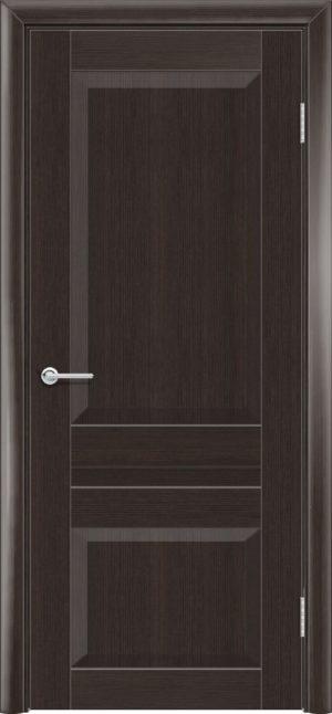 Межкомнатная дверь ПВХ S 15 орех темный рифленый 3