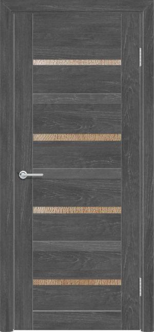 Межкомнатная дверь ПВХ S 17 дуб графит 3