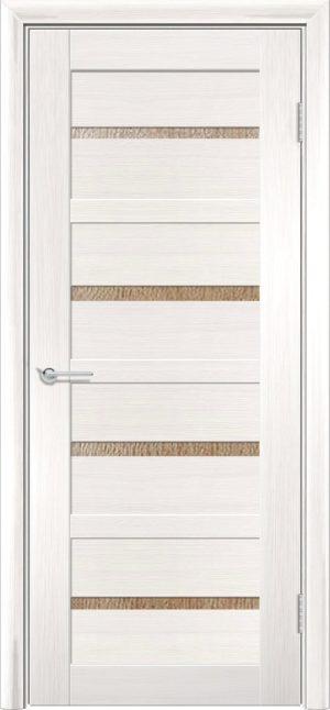 Межкомнатная дверь ПВХ S 17 лиственница беленая 1