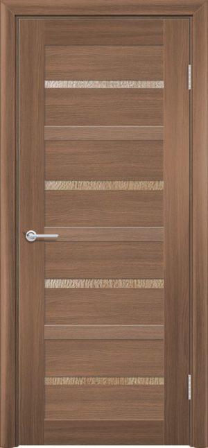 Межкомнатная дверь ПВХ S 17 орех королевский 3
