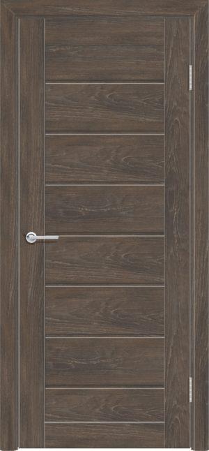 Межкомнатная дверь ПВХ S 18 дуб корица 1