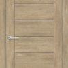 Межкомнатная дверь ПВХ S 13 орех темный рифленый 1