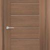 Межкомнатная дверь ПВХ S 51 орех темный рифленый 1