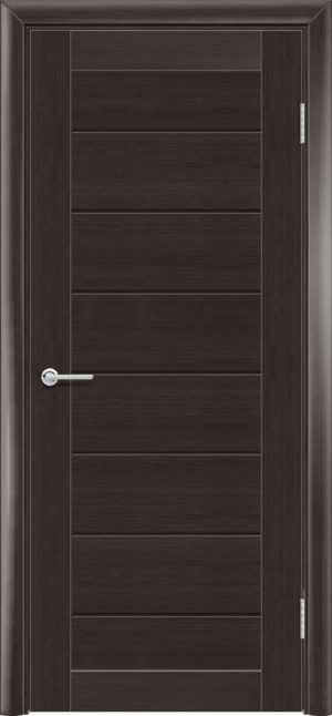 Межкомнатная дверь ПВХ S 18 орех темный рифленый 3