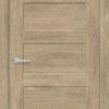 Межкомнатная дверь ПВХ S 16 орех темный рифленый 2