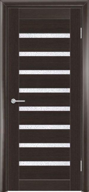 Межкомнатная дверь ПВХ S 2 орех темный рифленый 3