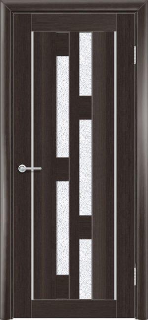 Межкомнатная дверь ПВХ S 21 орех темный рифленый 3