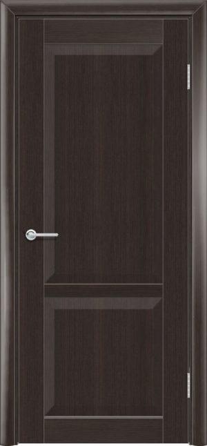 Межкомнатная дверь ПВХ S 22 орех темный рифленый 3