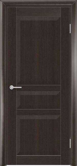 Межкомнатная дверь ПВХ S 23 орех темный рифленый 3