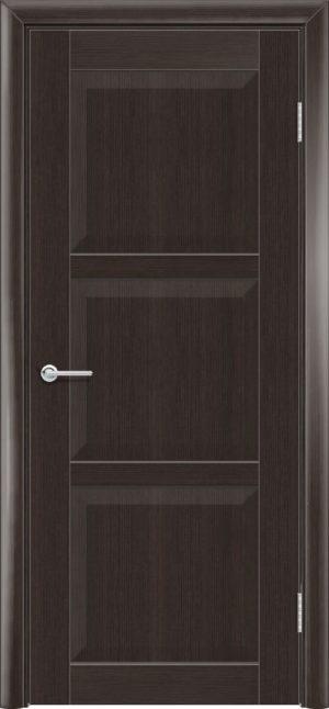 Межкомнатная дверь ПВХ S 24 орех темный рифленый 3