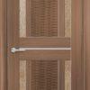 Межкомнатная дверь ПВХ S 10 орех темный рифленый 1